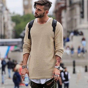 Knitted Loose Jumper - men's pullover sweater - My Lifestyle Stores