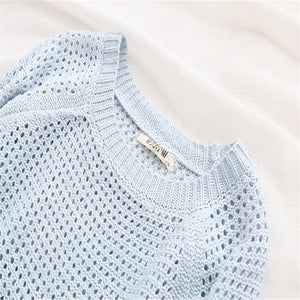 Hollow Out Gradient Sweaters - O-Neck Knitted Pullover - My Lifestyle Stores