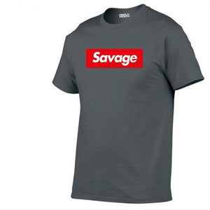 Savage T Shirt Parody No Heart X Savage Mode Slaughter Gang short sleeved t-shirt - My Lifestyle Stores