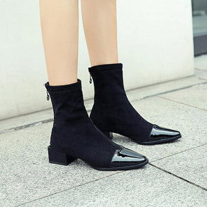 Square Toe Ankle Boots - My Lifestyle Stores