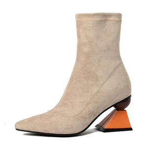 Pointed Toe high heel Ankle Boots - My Lifestyle Stores