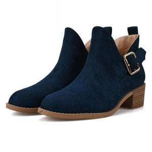 Chunky Block Heel Ankle Boots - My Lifestyle Stores
