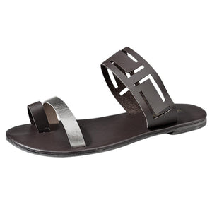 Hollow Flat Flip Flops Sandals - My Lifestyle Stores