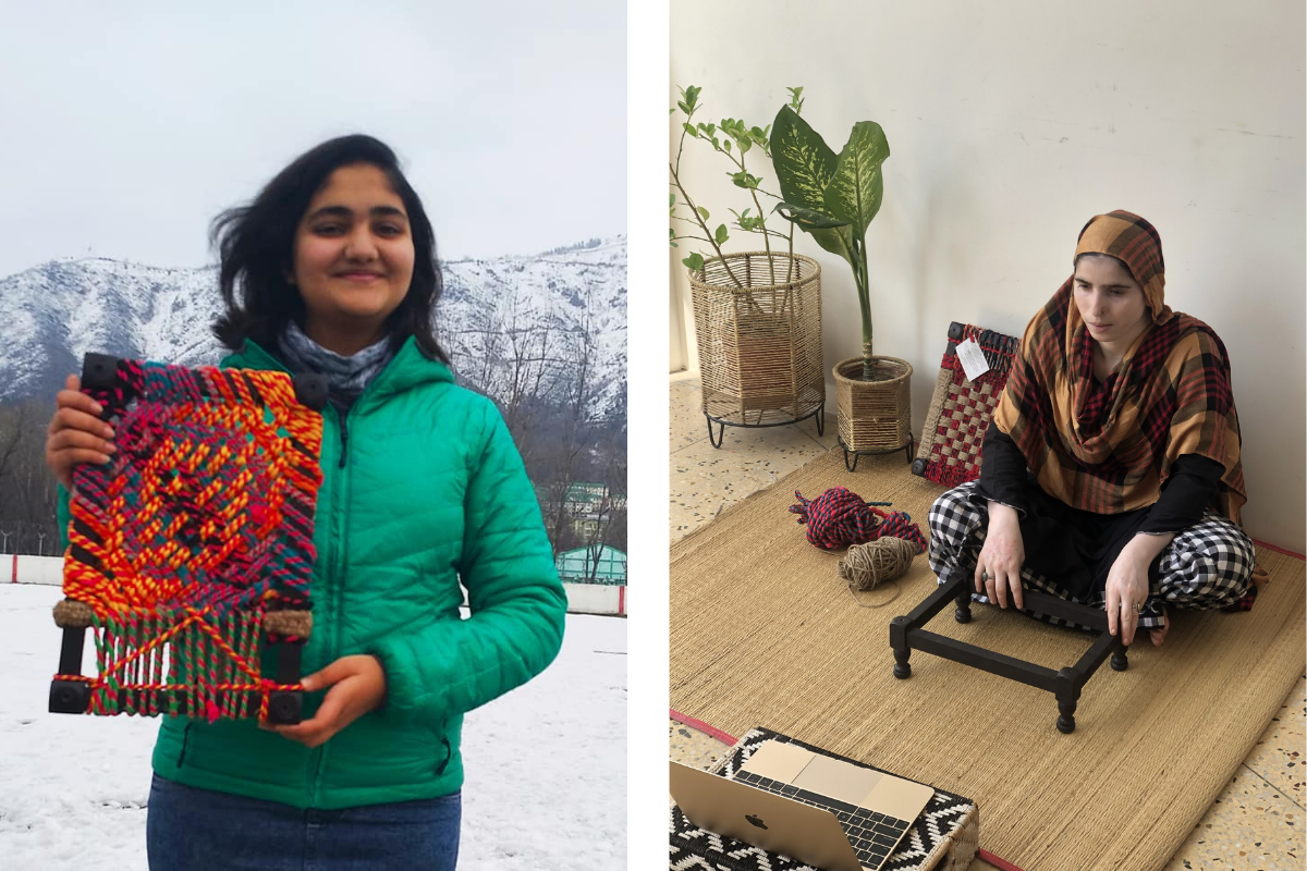 Live Weaving Sessions with Intel & Woodstock school Employees