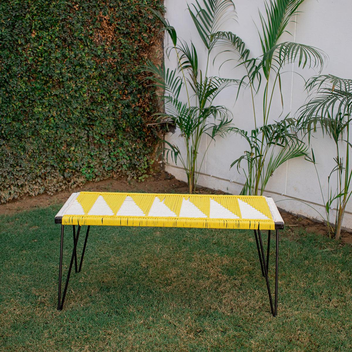 Colonel Recycled Cotton Metal Bench