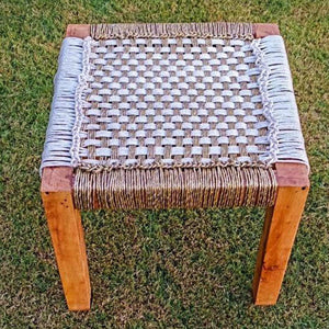 'The Speckled Piculet' Handwoven Modern Stool