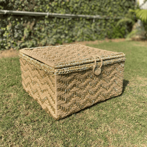 Treasure Trove Jute & Gold Trunk