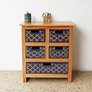 Indigo Turtle Chest with Removable Drawers