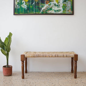 Golden Pheasant Gold Plastic Wooden Bench