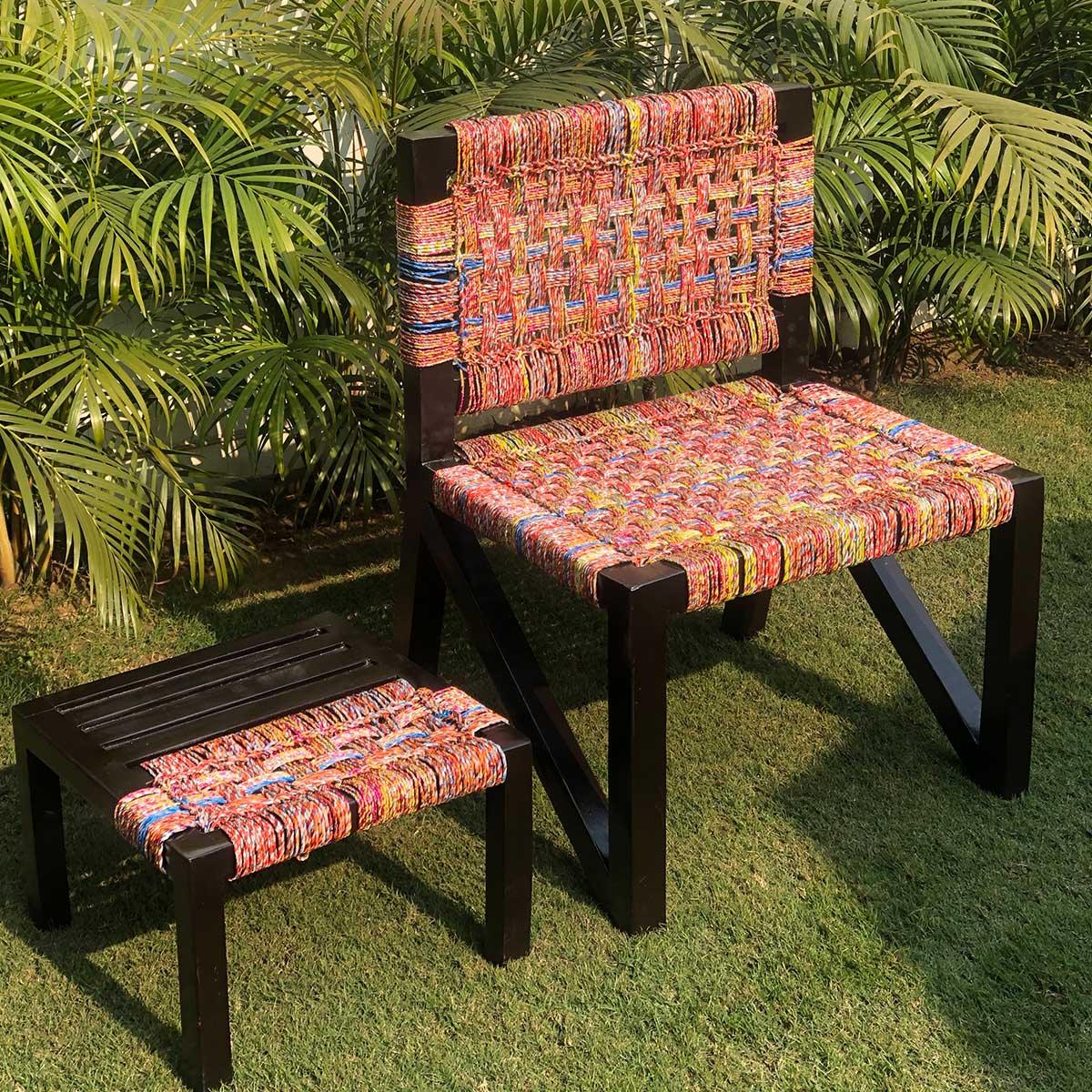 Repose Upcycled Plastic Chair & Table Set