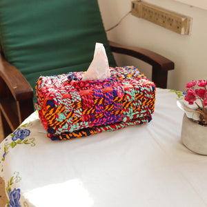 Sawan Upcycled Textile Tissue Box