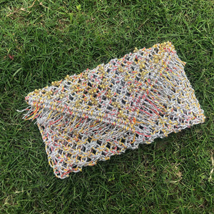 Gauhar's Story Handwoven Colourful Plastic Clutch