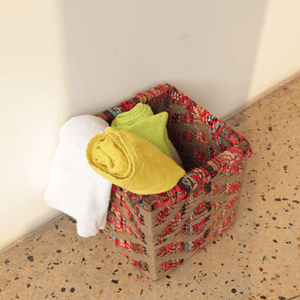 Clutter Upcycled Textile Laundry Basket