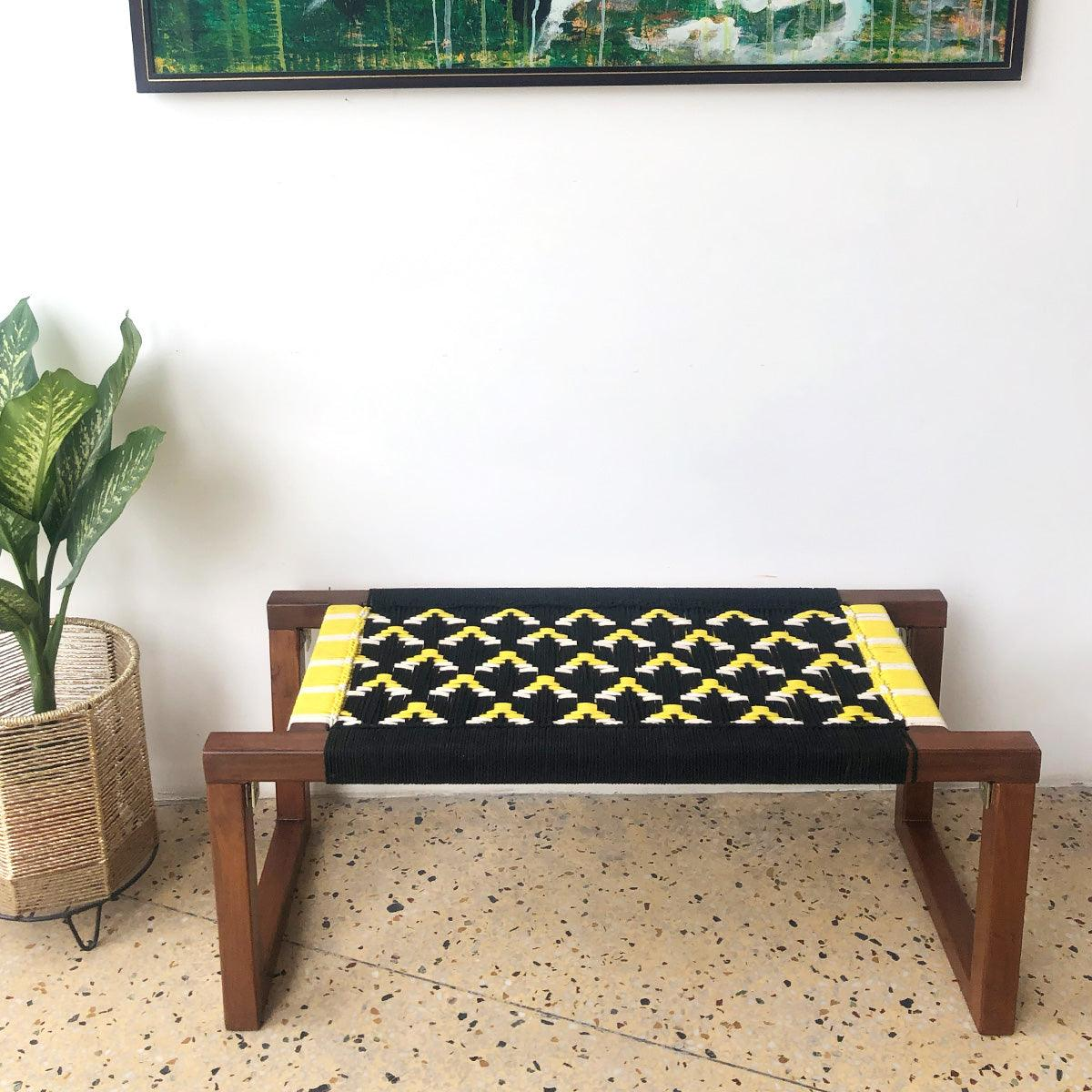 Busy Bee Recycled Cotton Wooden Bench