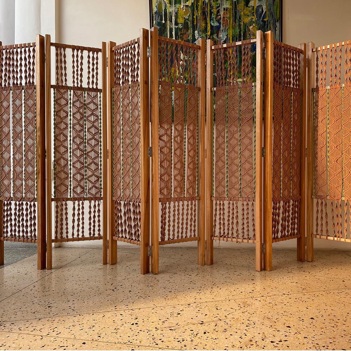 Regal Cotton Macrame Divider Panels