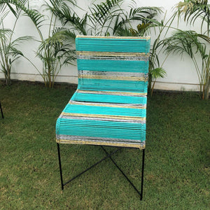 Lounger Upcycled Textile & Plastic  Chair