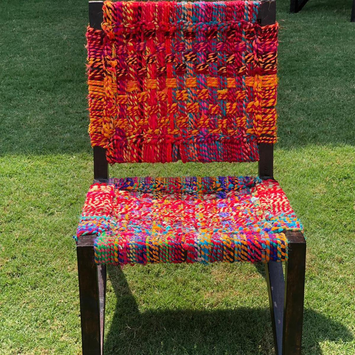Chanchal Chameli Upcycled Textile Chair