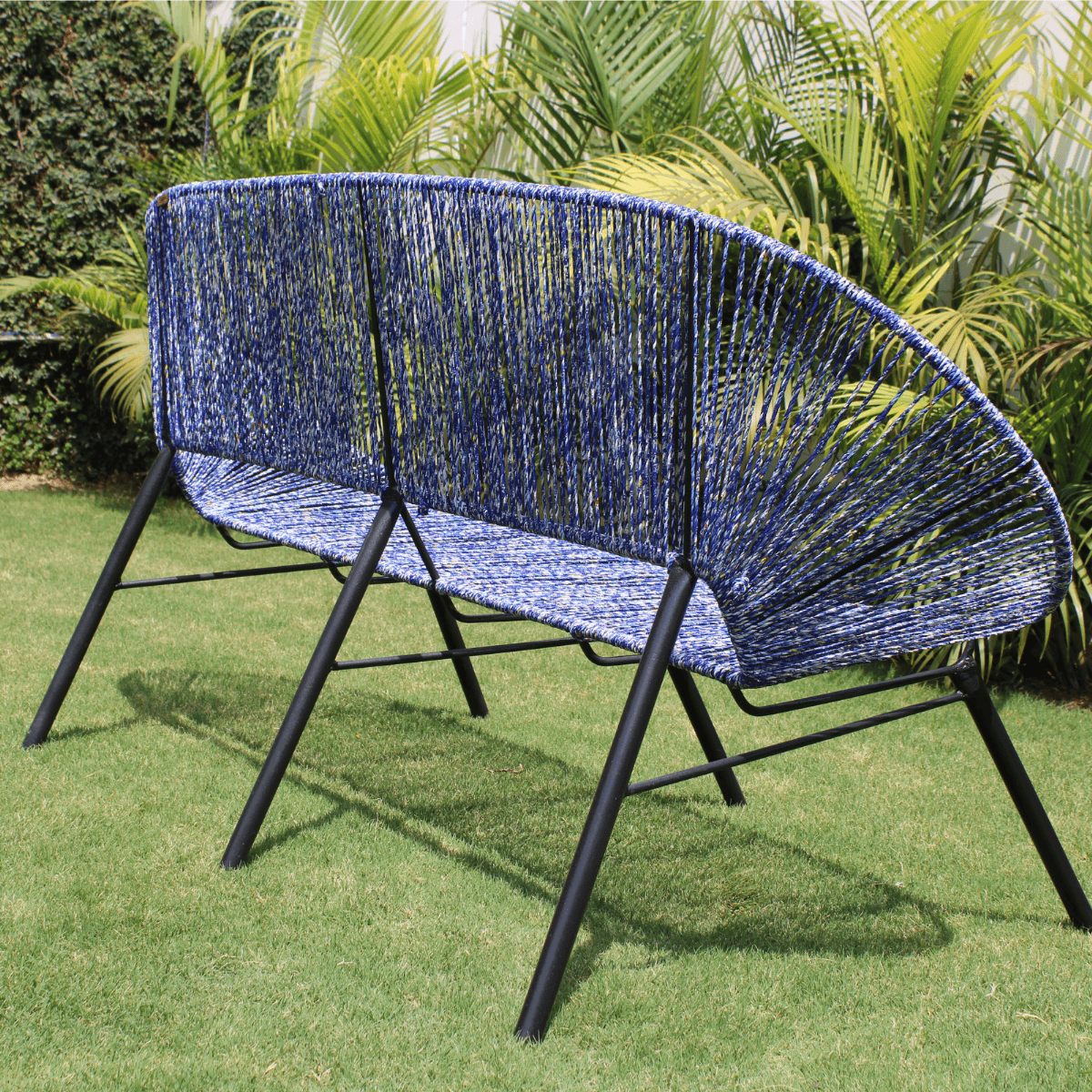 Azure Upcycled Plastic Two Seater Chair
