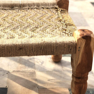 'Ferruginous Hawk' Handwoven Golden Stool