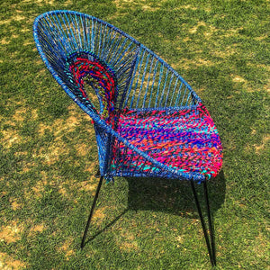 Oreo Handwoven Colourful Plastic Waste Lounge Chair
