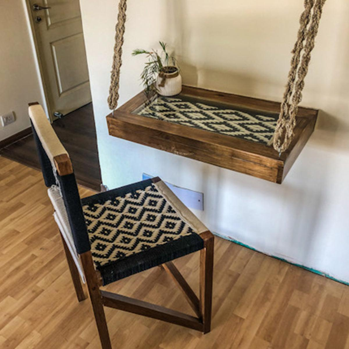Rope Mounted Desk & Chair Set