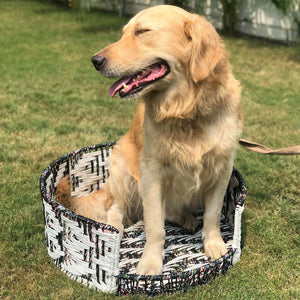 Fez Upcycled Plastic Dog Bed