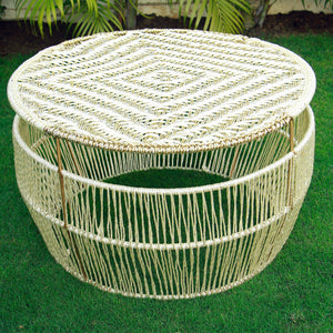 Frost White Round Coffee Table