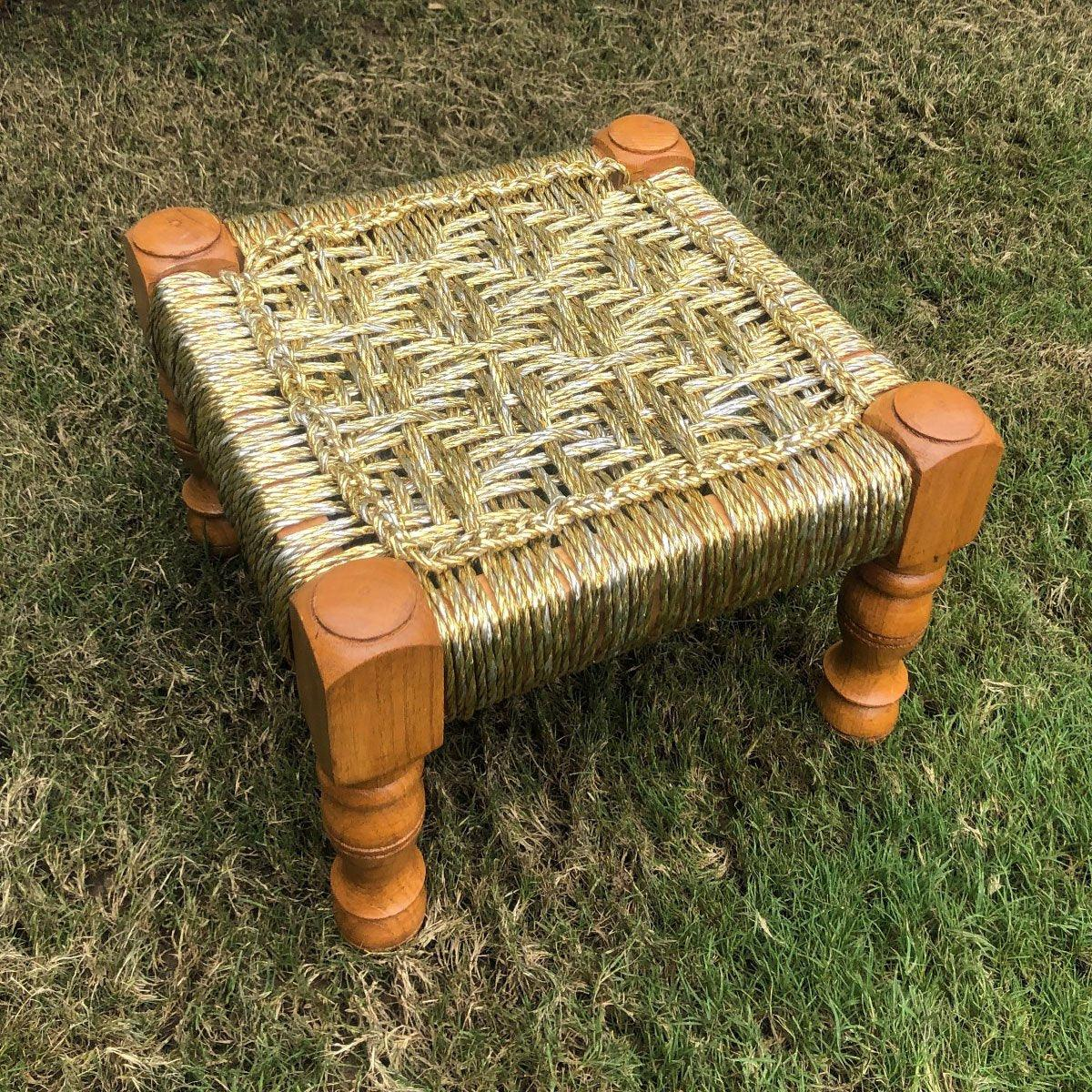 Anjuri's Charm Upcycled Gold Plastic Stool
