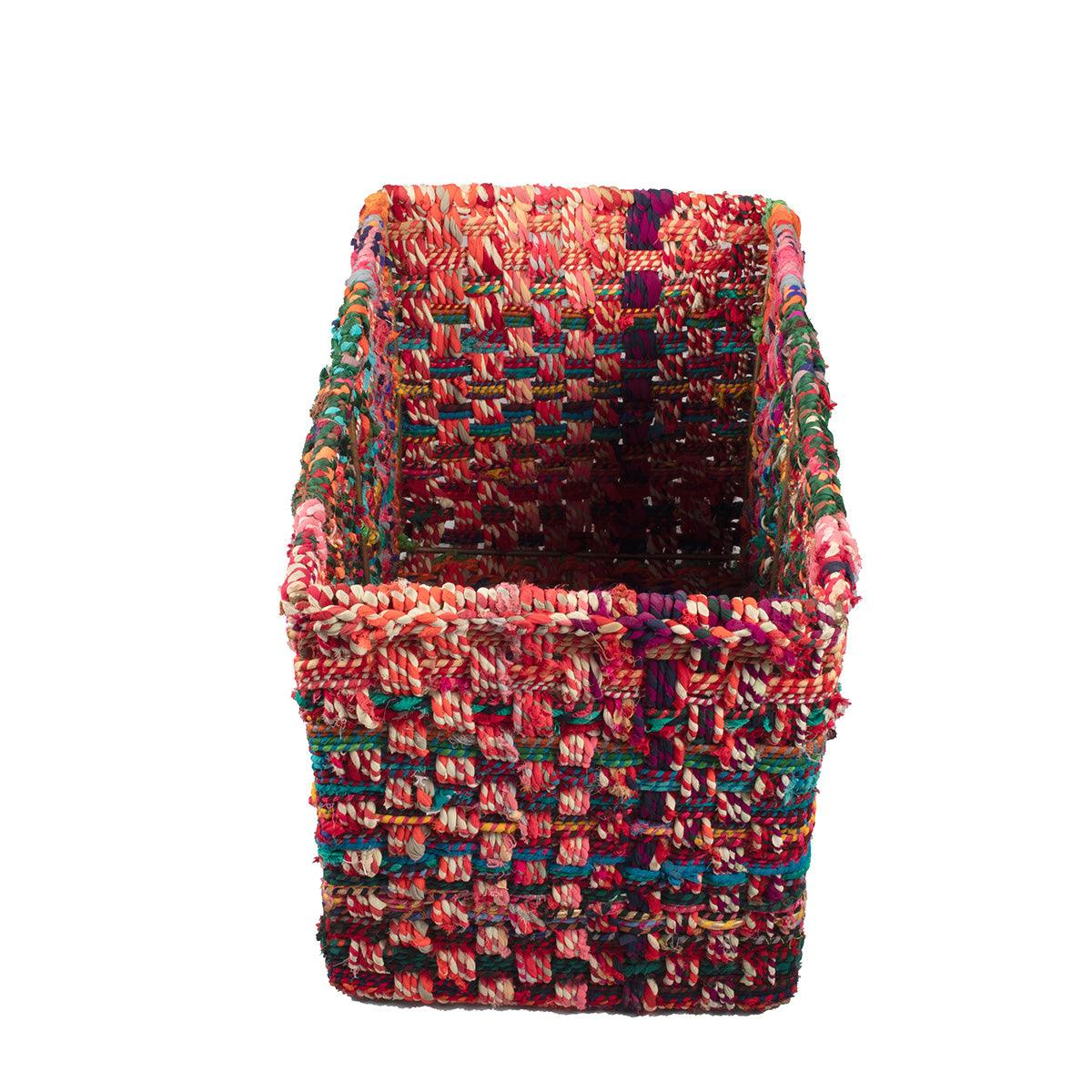 Ingrid Upcycled Textile Open Basket
