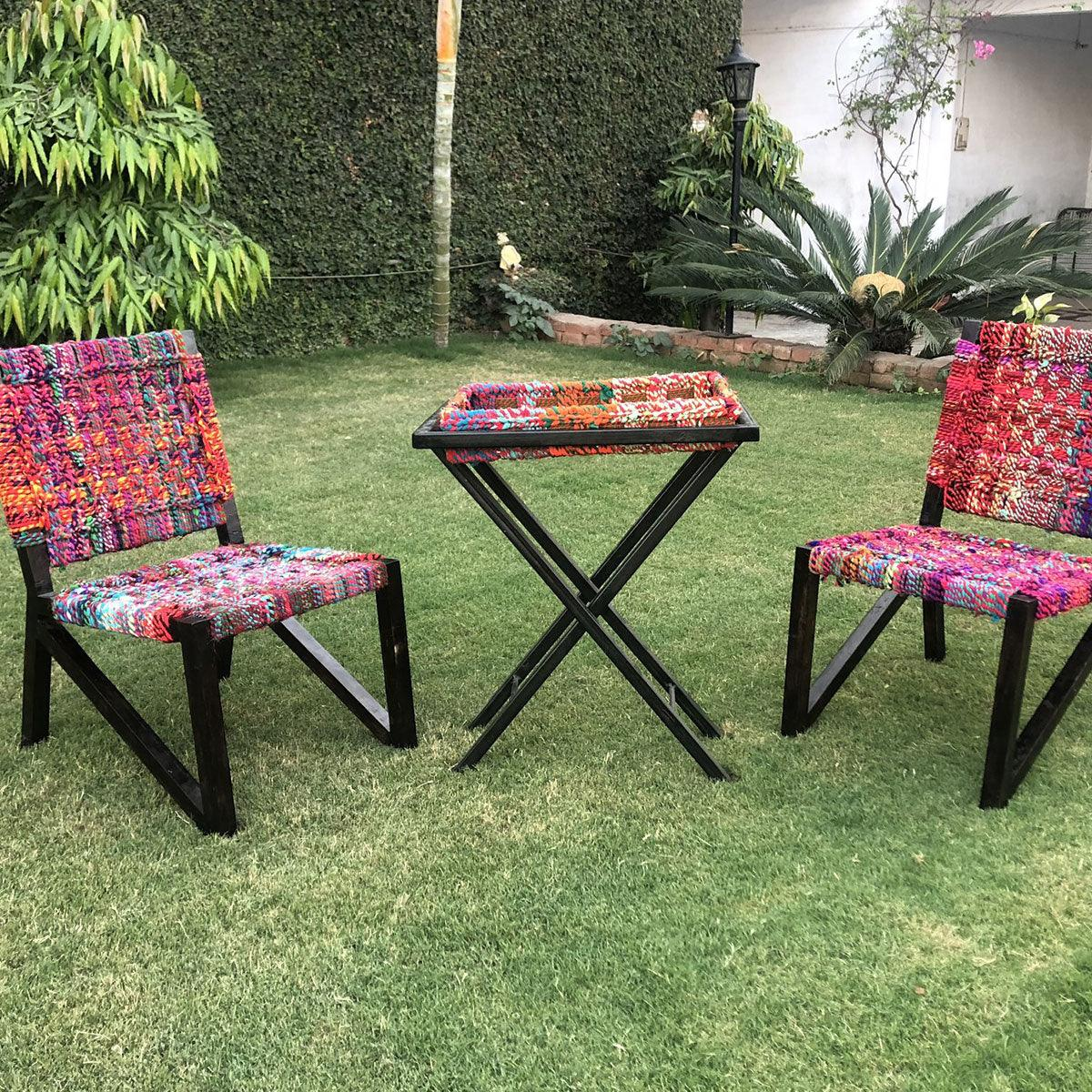Lawn Textile Table & Chairs Collection