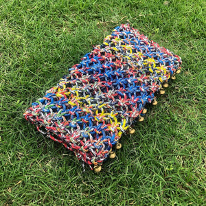 Shahiba's Pride Handwoven Colourful Plastic Clutch
