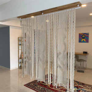 Pearl Macrame Cotton Screen Divider