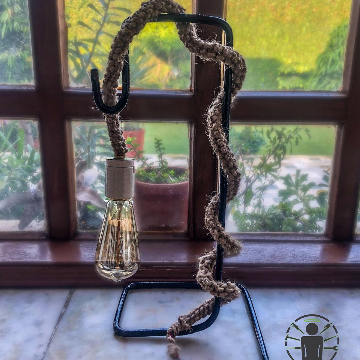 Vintage Natural Jute Table Rope Lamp
