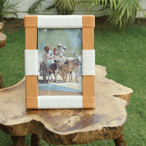 Casa Metal & Cotton Photo Frame