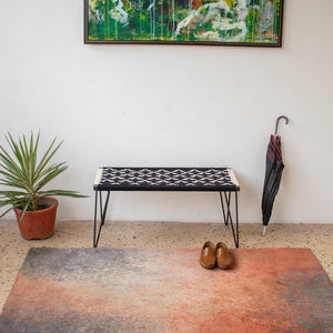 Birdy Recycled Cotton Metal Bench