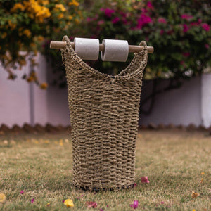 Marron Moonj Grass Laundry Basket