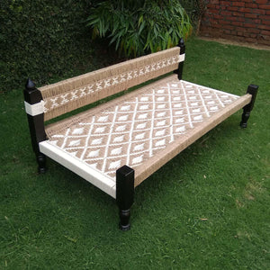 Prerna Jute & White Cotton Day Bed