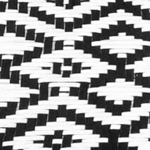 Every Room Handwoven Black & White Cotton Stool 3.0