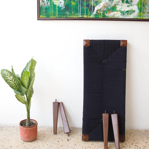 Koyal Recycled Cotton Wooden Bench