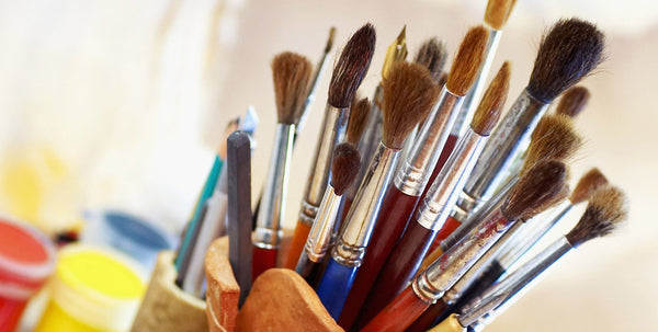 caring for paint brushes