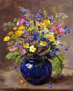 Pretty Vase & Flowers Paint by Numbers
