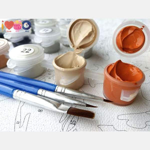 Carrot & White Bunny - Paint by Numbers Kit