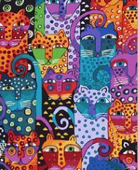 Abstract Cats Paint by Numbers