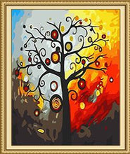 Load image into Gallery viewer, Abstract Tree Paint by Numbers