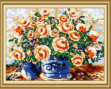 Load image into Gallery viewer, Amazing Floral Vase Paint by Numbers