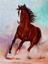 Load image into Gallery viewer, Amazing Running Horse Paint by Diamonds