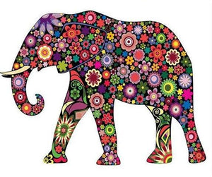 Artistic Elephant Paint by Numbers
