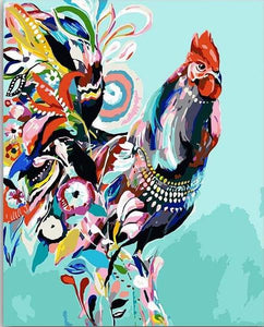 Artistic Rooster Paint by Numbers