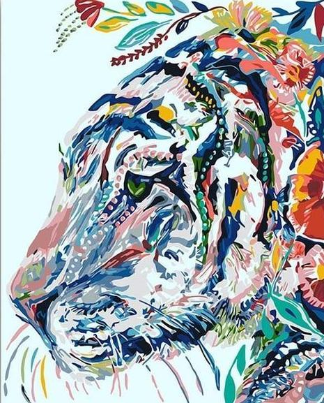 Artistic Tiger Paint by Numbers