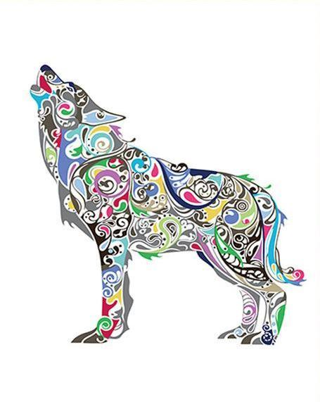 Artistic Wolf Paint by Numbers